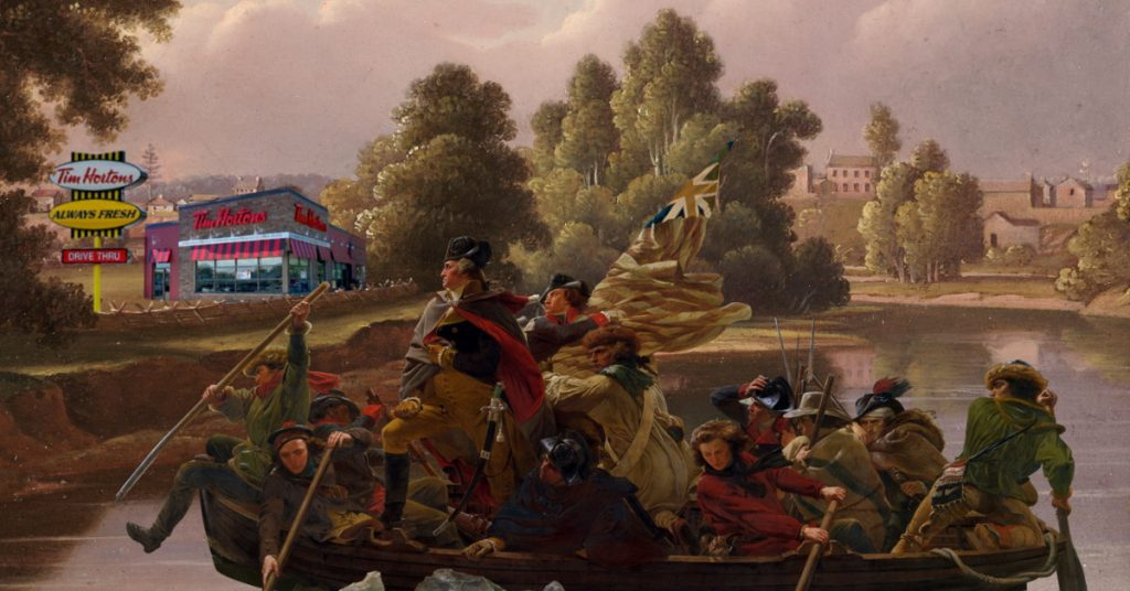 Washington Crossing For A Double-Double